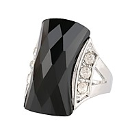 cheap Jewelry & Watches-Women's Hollow Statement Ring Ring - Stainless, Alloy Precious, Hope Stylish, Aristocrat Lolita, Trendy 7 / 8 / 9 / 10 Black / Green For Ceremony Birthday
