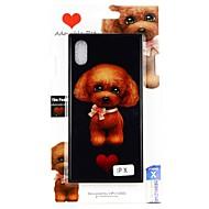 Недорогие Кейсы для iPhone 8-Кейс для Назначение Apple iPhone X С узором Кейс на заднюю панель С собакой Твердый Закаленное стекло для iPhone X / iPhone 8 Pluss / iPhone 8