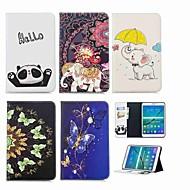 Недорогие Чехлы и кейсы для Samsung Tab-Кейс для Назначение SSamsung Galaxy Tab S2 8.0 Кошелек / Бумажник для карт / со стендом Чехол Слон Твердый Кожа PU для Tab S2 8.0