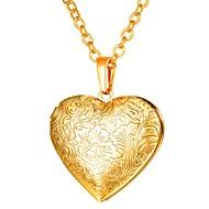 ieftine -Pentru femei Coliere cu Pandativ Lung Medalion Inimă femei Romantic Gotic Articole de ceramică Auriu Argintiu Roz auriu 55 cm Coliere Bijuterii 1 buc Pentru Cadou Zilnic
