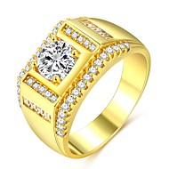 Muškarci Klasičan Sa stilom Prsten Prsten obećanja - 18K pozlaćeni, Imitacija dijamanta dragocjen Klasik, Moda, Hip-hop Jewelry Zlato Za Vjenčanje Angažman Maškare Zaručnička zabava Prom Spoj 7 / 8