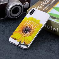 Недорогие Кейсы для iPhone 8 Plus-Кейс для Назначение Apple iPhone X / iPhone 8 Plus IMD / С узором Кейс на заднюю панель Слова / выражения / Цветы Мягкий ТПУ для iPhone X / iPhone 8 Pluss / iPhone 8