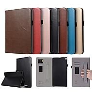 お買い得  携帯電話ケース-ケース 用途 Huawei MediaPad T2 10.0 Pro カードホルダー / スタンド付き / 磁石バックル フルボディーケース ソリッド ハード PUレザー のために Huawei MediaPad T2 10.0 Pro