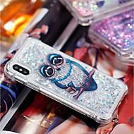 Недорогие Кейсы для iPhone 8 Plus-Кейс для Назначение Apple iPhone X / iPhone 8 Plus Защита от удара / Движущаяся жидкость / Прозрачный Кейс на заднюю панель Сова Мягкий ТПУ для iPhone X / iPhone 8 Pluss / iPhone 8
