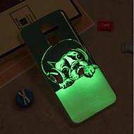 Недорогие Чехлы и кейсы для Galaxy J3-Кейс для Назначение SSamsung Galaxy iPhone X / iPhone 8 Plus / J6 Сияние в темноте / IMD / С узором Кейс на заднюю панель С собакой Мягкий ТПУ для J8 / J7 (2017) / J7 (2016)
