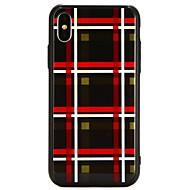 Недорогие Кейсы для iPhone 8-Кейс для Назначение Apple iPhone X С узором Кейс на заднюю панель Полосы / волосы Твердый Закаленное стекло для iPhone X / iPhone 8 Pluss / iPhone 8