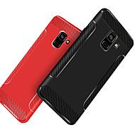 Недорогие Чехлы и кейсы для Galaxy А-Кейс для Назначение SSamsung Galaxy A8 Plus 2018 / A8 2018 Защита от удара / Матовое Кейс на заднюю панель Однотонный Мягкий ТПУ для A5(2018) / A6 (2018) / A6+ (2018)