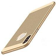 Недорогие Кейсы для iPhone 8 Plus-Кейс для Назначение Apple iPhone X / iPhone 8 Защита от удара / Ультратонкий Кейс на заднюю панель Однотонный Твердый ПК для iPhone X / iPhone 8 Pluss / iPhone 8