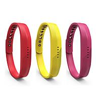 Недорогие Аксессуары для смарт-часов-Ремешок для часов для Gear Fit 2 Fitbit Спортивный ремешок силиконовый Повязка на запястье