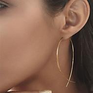 abordables $0.99 Joyería de moda-Mujer Pendientes cortos - Europeo, Estilo Simple, Moda Negro / Plata / Dorado Para Fiesta Diario Casual