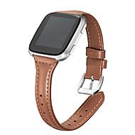 Недорогие Аксессуары для смарт-часов-Ремешок для часов для Fitbit Versa Fitbit Современная застежка Натуральная кожа Повязка на запястье