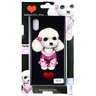 Недорогие Кейсы для iPhone 8-Кейс для Назначение Apple iPhone X / iPhone 8 С узором Кейс на заднюю панель С собакой Твердый Закаленное стекло для iPhone X / iPhone 8 Pluss / iPhone 8