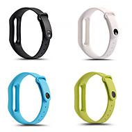 Недорогие Аксессуары для смарт-часов-Ремешок для часов для Mi Band 2 Xiaomi Спортивный ремешок силиконовый Повязка на запястье