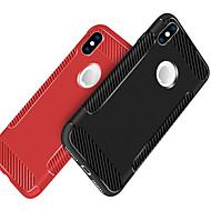 Недорогие Кейсы для iPhone 8 Plus-Кейс для Назначение Apple iPhone X / iPhone 8 Защита от удара / Матовое Кейс на заднюю панель Однотонный Мягкий ТПУ для iPhone X / iPhone 8 Pluss / iPhone 8