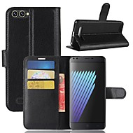 お買い得  携帯電話ケース-ケース 用途 Doogee DOOGEE X30 / DOOGEE X20 ウォレット / カードホルダー / フリップ フルボディーケース ソリッド ハード PUレザー のために DOOGEE X30 / DOOGEE X20 / DOOGEE BL500