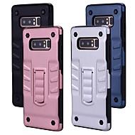 Недорогие Чехлы и кейсы для Galaxy Note-Кейс для Назначение SSamsung Galaxy Note 8 со стендом Кейс на заднюю панель Однотонный Твердый ПК для Note 8