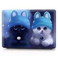 """お買い得  MacBook 用ケース/バッグ/スリーブ-MacBook ケース 猫 プラスチック のために 新MacBook Pro 15"""" / 新MacBook Pro 13"""" / MacBook Pro 15インチ"""