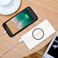 abordables Accesorios Universales para iPhone-10000 mAh Para Batería externa del banco de potencia 5 V Para 2.1 A / 3 A Para Cargador de batería con el cable / Cargador Wireless / Corriente con Ajuste Automático LED