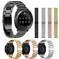 Недорогие Аксессуары для смарт-часов-Ремешок для часов для Gear Sport Samsung Galaxy Спортивный ремешок Нержавеющая сталь Повязка на запястье