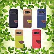 Недорогие Чехлы и кейсы для Galaxy Note-Кейс для Назначение SSamsung Galaxy Note 8 Кошелек / Бумажник для карт / со стендом Кейс на заднюю панель Однотонный Мягкий ТПУ для Note 8