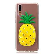 preiswerte Handyhüllen-Hülle Für Huawei P20 / P20 lite Mit Flüssigkeit befüllt Rückseite Frucht Weich TPU für Huawei P20 / Huawei P20 Pro / Huawei P20 lite