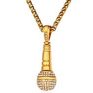 ieftine -Bărbați Zirconiu Cubic Coliere cu Pandativ Funie Modă Hip-Hop Hip Hop Teak Auriu Argintiu 55 cm Coliere Bijuterii 1 buc Pentru Cadou Zilnic