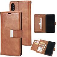 Недорогие Кейсы для iPhone 8 Plus-Кейс для Назначение Apple iPhone X / iPhone 8 / iPhone XS Кошелек / Бумажник для карт / Флип Чехол Однотонный Твердый Кожа PU для iPhone XS / iPhone XR / iPhone XS Max
