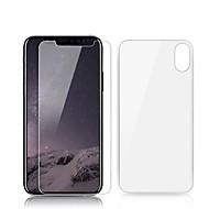 Недорогие Защитные плёнки для экрана iPhone-Защитная плёнка для экрана для Apple iPhone X Закаленное стекло 2 штs Защитная пленка для экрана и задней панели Уровень защиты 9H / Защита от царапин / Против отпечатков пальцев