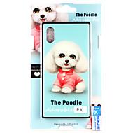 Недорогие Кейсы для iPhone 8 Plus-Кейс для Назначение Apple iPhone X С узором Кейс на заднюю панель С собакой Твердый Закаленное стекло для iPhone X / iPhone 8 Pluss / iPhone 8
