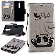 preiswerte Handyhüllen-Hülle Für Nokia Nokia 5 / Nokia 3 Geldbeutel / Kreditkartenfächer / mit Halterung Rückseite Panda Hart TPU für Nokia 5 / Nokia 3 / Nokia 1