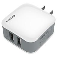 abordables Cargadores USB-Cargador usb Baseus 2 Estación de cargador de escritorio Con carga rápida 2.0 Enchufe AU Adaptador de carga