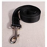 abordables -Chiens / Lapins / Chats Laisses Portable / Avion-école / Ajustable / Réglable Couleur Pleine Térylène Noir