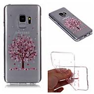 Недорогие Чехлы и кейсы для Galaxy S7 Edge-Кейс для Назначение SSamsung Galaxy S9 Plus / S9 IMD / Прозрачный / С узором Кейс на заднюю панель дерево / Цветы Мягкий ТПУ для S9 / S9 Plus / S8 Plus
