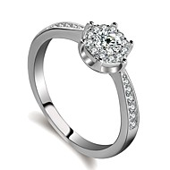 cheap -Women's Stylish / Stardust Ring - Platinum Plated, Imitation Diamond Dream Sweet, Fashion, Elegant 5 / 6 / 7 Silver For Birthday / Engagement