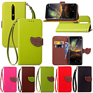 cheap -Case For Nokia Nokia 6 2018 / Nokia 5.1 Card Holder / with Stand / Flip Full Body Cases Plants Hard PU Leather for Nokia 8 / Nokia 3.1 / Nokia 2.1