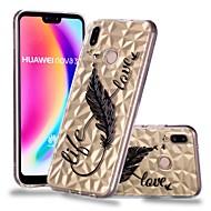preiswerte Handyhüllen-Hülle Für Huawei P20 / P20 lite Transparent / Muster Rückseite Feder Weich TPU für Huawei P20 / Huawei P20 Pro / Huawei P20 lite