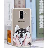 Недорогие Чехлы и кейсы для Galaxy А-Кейс для Назначение SSamsung Galaxy A6+ (2018) / A6 (2018) Прозрачный / С узором Кейс на заднюю панель С собакой Мягкий ТПУ для A6 (2018) / A6+ (2018) / A3 (2017)