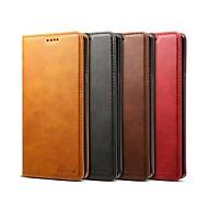 Недорогие Чехлы и кейсы для Galaxy Note 8-Кейс для Назначение SSamsung Galaxy Note 9 / Note 8 Кошелек / Бумажник для карт / Защита от удара Чехол Однотонный Твердый Кожа PU для Note 9 / Note 8