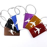 お買い得  トラベル小物-1個 カバン用ネームタグ バッグ用小物 のために バッグ用小物 アルミニウム合金 - Black / Red / ゴールデン / ホワイト / シルバー