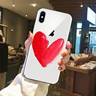 Etui Käyttötarkoitus Apple iPhone X / iPhone 8 Läpinäkyvä / Kuvio Takakuori Sydän Pehmeä TPU varten iPhone X / iPhone 8 Plus / iPhone 8