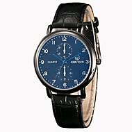 abordables Relojes Formales-Hombre Reloj de Vestir / Reloj de Pulsera Chino Nuevo diseño / Reloj Casual PU Banda Casual / Moda Negro / Marrón