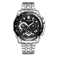 cheap -Men's Wrist Watch Chinese Cool / Large Dial Stainless Steel Band Casual / Fashion Silver