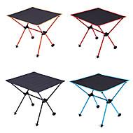 abordables Muebles de Acampada-Mesa para camping Al aire libre Ligeras, Portátil, Doblez Tejido Oxford, Aluminio para Senderismo / Playa / Camping Negro / Naranja