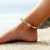 Women's Anklet Ankle Bracelet Plaited Wrap Beads Ball Shell