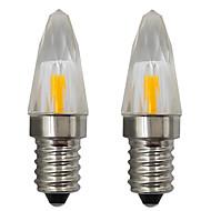 お買い得  LED キャンドルライト-2pcs 3 W 150-200 lm E14 LEDキャンドルライト 1 LEDビーズ COB 装飾用 温白色 / クールホワイト 220-240 V