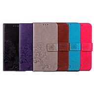 Недорогие Чехлы и кейсы для Galaxy S9-Кейс для Назначение SSamsung Galaxy S9 Бумажник для карт / Флип Чехол Однотонный / Мандала Мягкий Кожа PU для S9