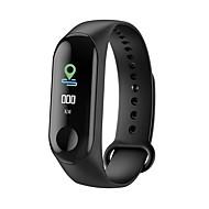m3 smart sports armbånd fitness tracker med hjertefrekvens skærm bluetooth vandtæt skridttæller til android ios