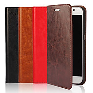 cheap -Case For Samsung Galaxy S9 / S8 Plus Wallet / Card Holder / with Stand Full Body Cases Solid Colored Hard Genuine Leather for S9 / S8 / S7 edge