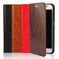 Недорогие Чехлы и кейсы для Galaxy S7 Edge-Кейс для Назначение SSamsung Galaxy S9 / S8 Plus Кошелек / Бумажник для карт / со стендом Чехол Однотонный Твердый Настоящая кожа для S9 / S8 / S7 edge