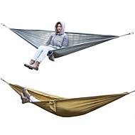 abordables Muebles de Acampada-Hamaca para camping Al aire libre Ligero, Listo para vestir, Transpirabilidad Nailon para Camping / Viaje Marrón / Gris